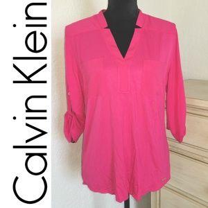 NWT** Pink Blouse ll Calvin Klein